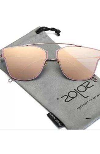 SojoS Classic Square Sunglasses for Women Men Flat Mirrored