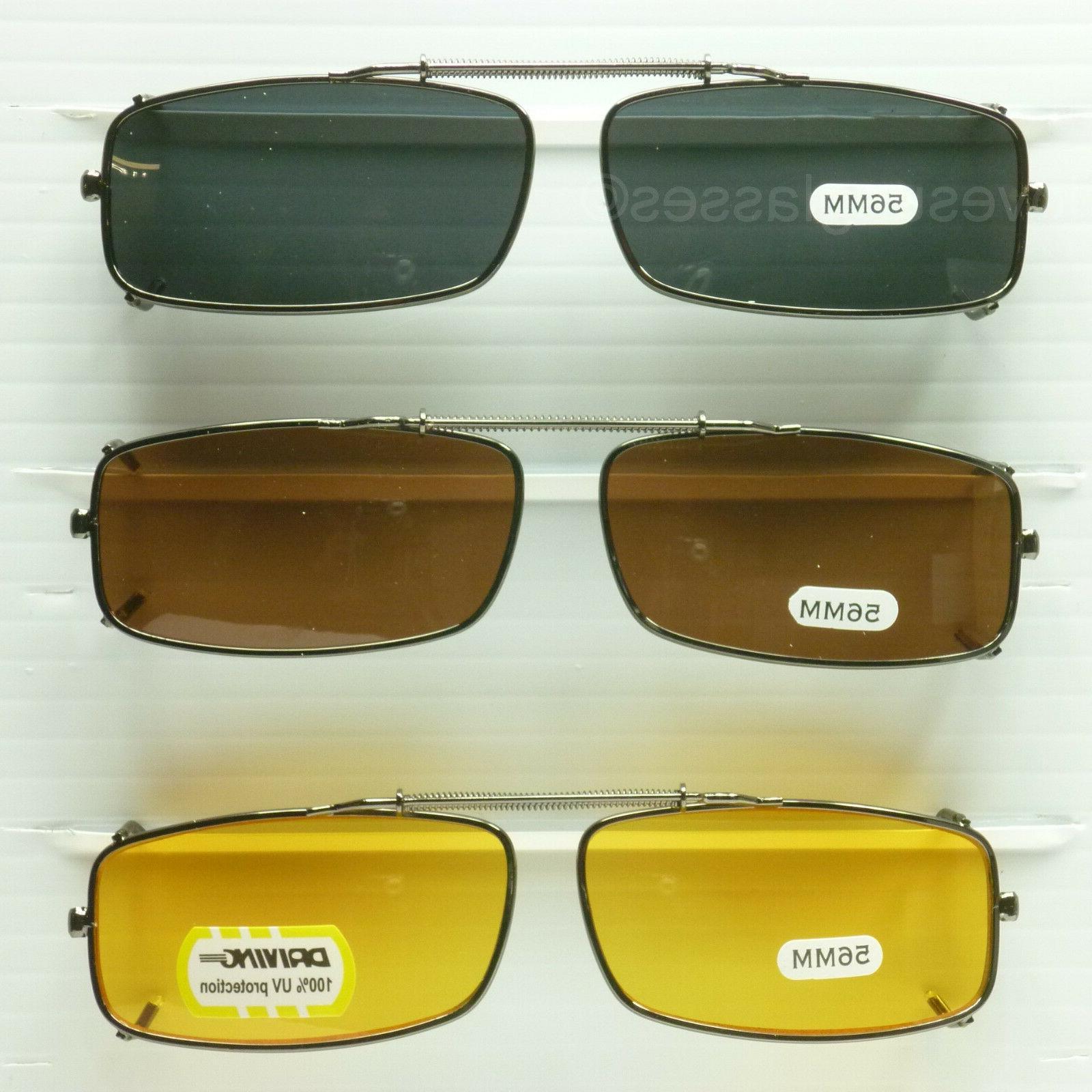 clip on spring sunglasses glasses rectangle fish