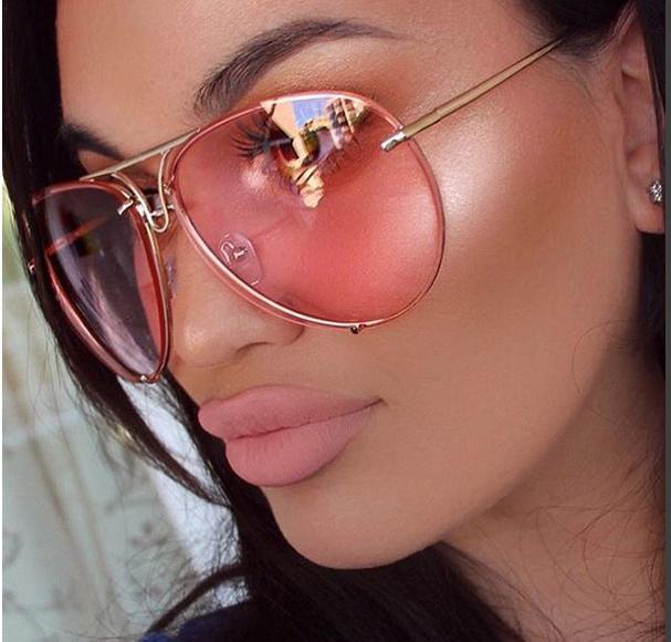 Aviator Poshe Twirl Women Sunglasses RED