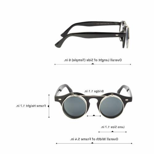 Cool Steampunk Round Sunglasses Tortoise