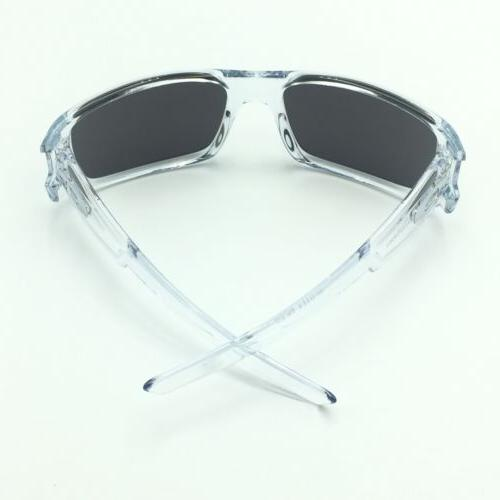 Oakley Crankshaft Polished Clear Sunglasses Iridium Lens