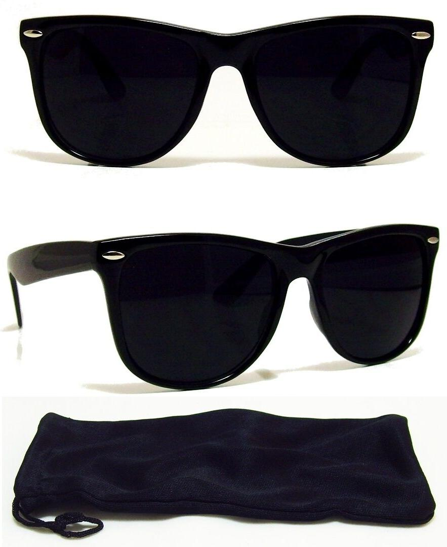 dark black lens sunglasses vintage retro aviator