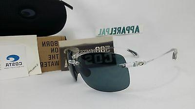 New Costa del Mar Destin Polarized Sunglasses Crystal/Grey 5