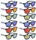 Edge I-Wear 12 Pack Neon Horn Rimed Sunglasses 100% UV Prote