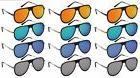 Edge I-Wear Wholesale 12-Pack Men Aviator Flat Top Sunglasse