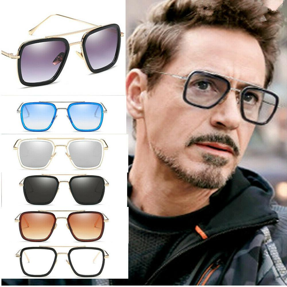 fashion iron man sunglasses square robert downey