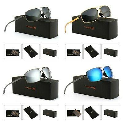 fashion lightweight rectangular polarized sunglasses 100 per