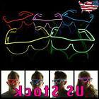 Flashing LED Neon Wire Light Up Sunglasses EL Glasses Glow X