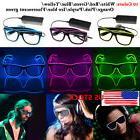 Flashing LED Neon Wire Light Up Sunglasses EL Glasses Glow P