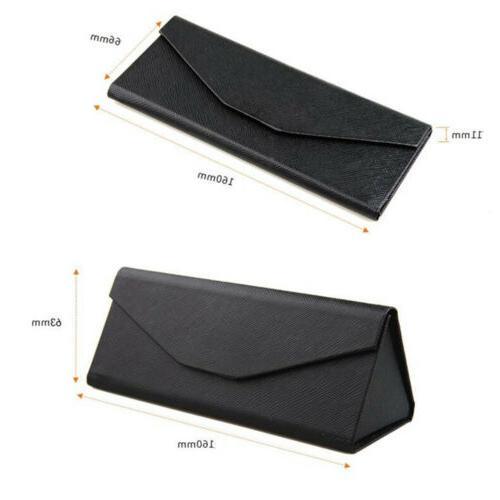 Triangular Case Purse Leather Hard Glasses
