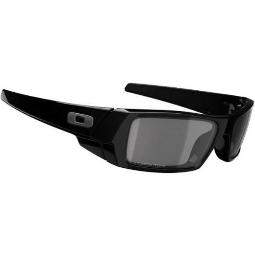 Oakley Rectangular Sunglasses, Polished Black /Grey, 60mm