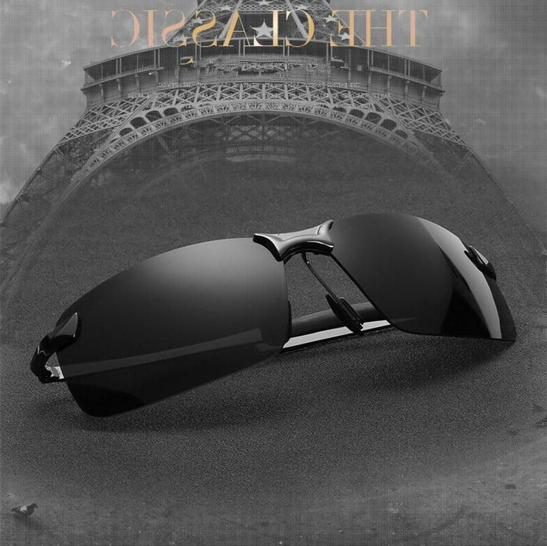 HD Mens Driving Aviator Glasses Outdoor
