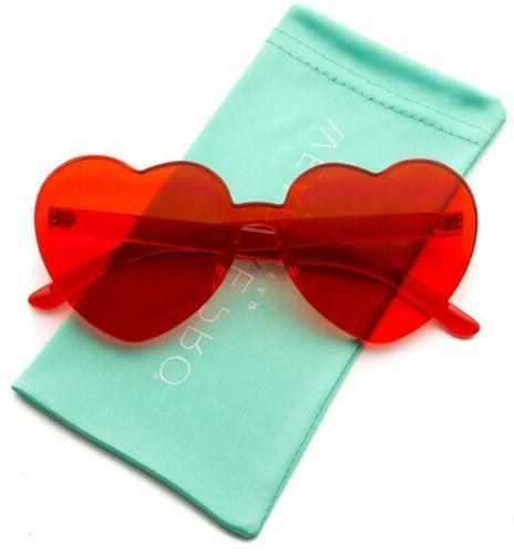 heart shaped one piece transparent full colored
