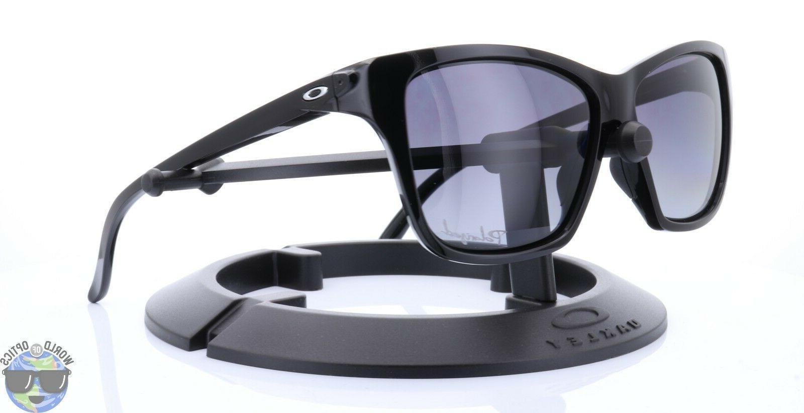 Oakley Hold On Women's Sunglasses OO9298-06 Black w/ Grey Gr