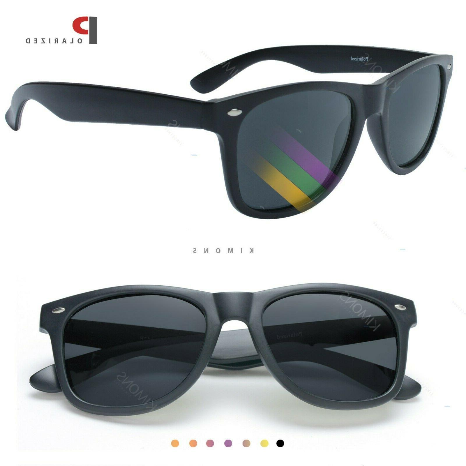 Hipster Horn rim Polarized Sunglasses Retro Vintage men wome