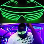IK- LED EL Wire Glasses Light Up Glow Sunglasses Eyewear Sha