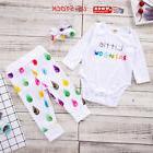 Infant Baby Girls Little RAINBOW Jumpsuit Tops+Long Pants He