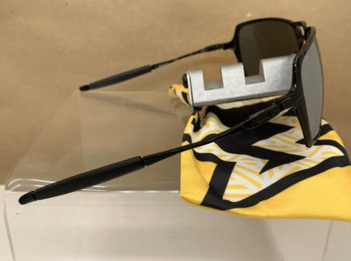 ❗️Oakley~INMATE~Polished~Black~Custom~POLARIZED~Titanium~Mirror~Lenses~ExcellCon
