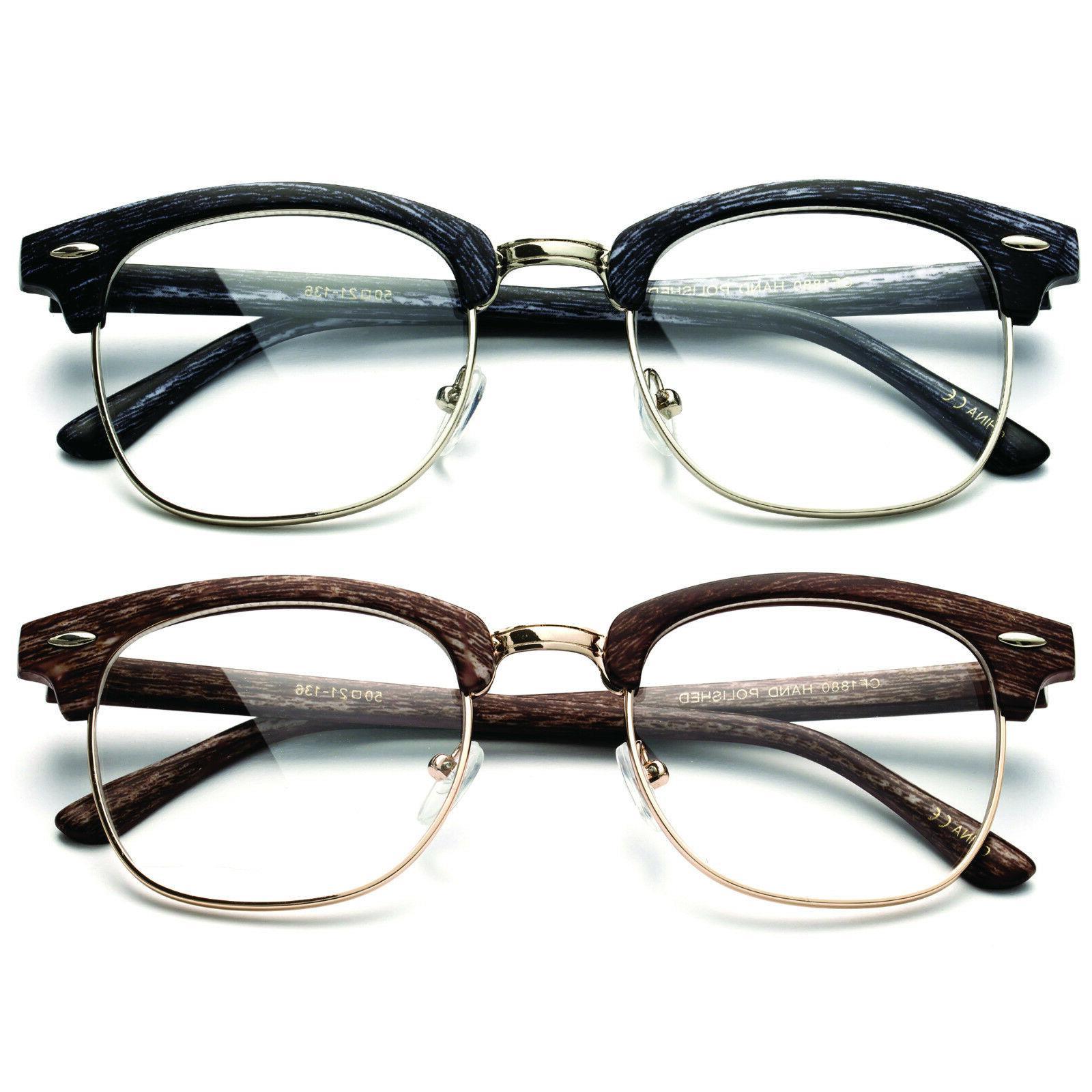 Interview Clear Glasses Vintage Nerd Geek Retro 100%