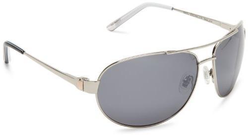 S4 J. P. 718S4 Metal Aviator Sunglasses,Silver Frame/Silver