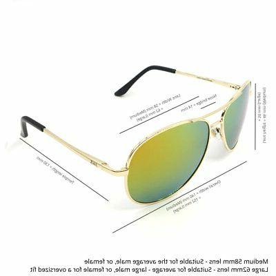 J+S Premium Aviator Sunglasses, Polarized, 100% UV