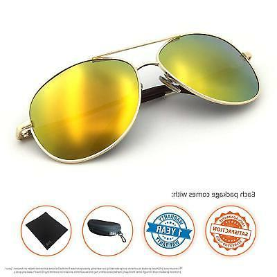 J+S Military Classic Aviator Sunglasses, UV