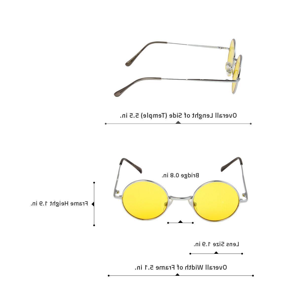 John Style Round Retro 60S 70s Glasses