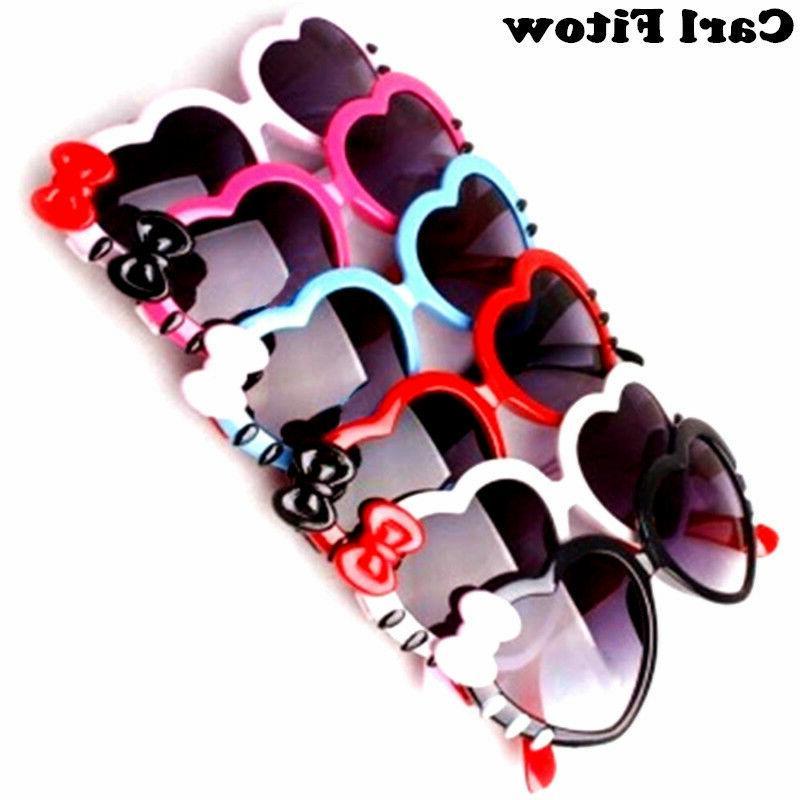 KIDS GIRLS Heart Shaped junior size JR sunglasses 5 COLORS T