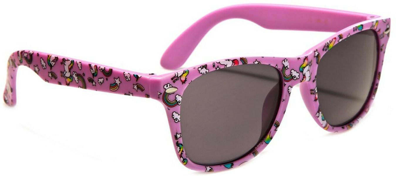 Kids Girls Unicorn Sunglasses Ages 3 - 12 UV400 Ultraviolet