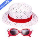 EYEGUARD Kids Red Sunglasses UV400 Girl Sun White Hat Child