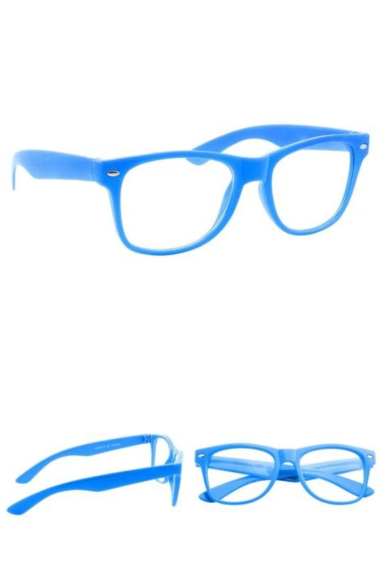 kids size color glasses clear lens nerd