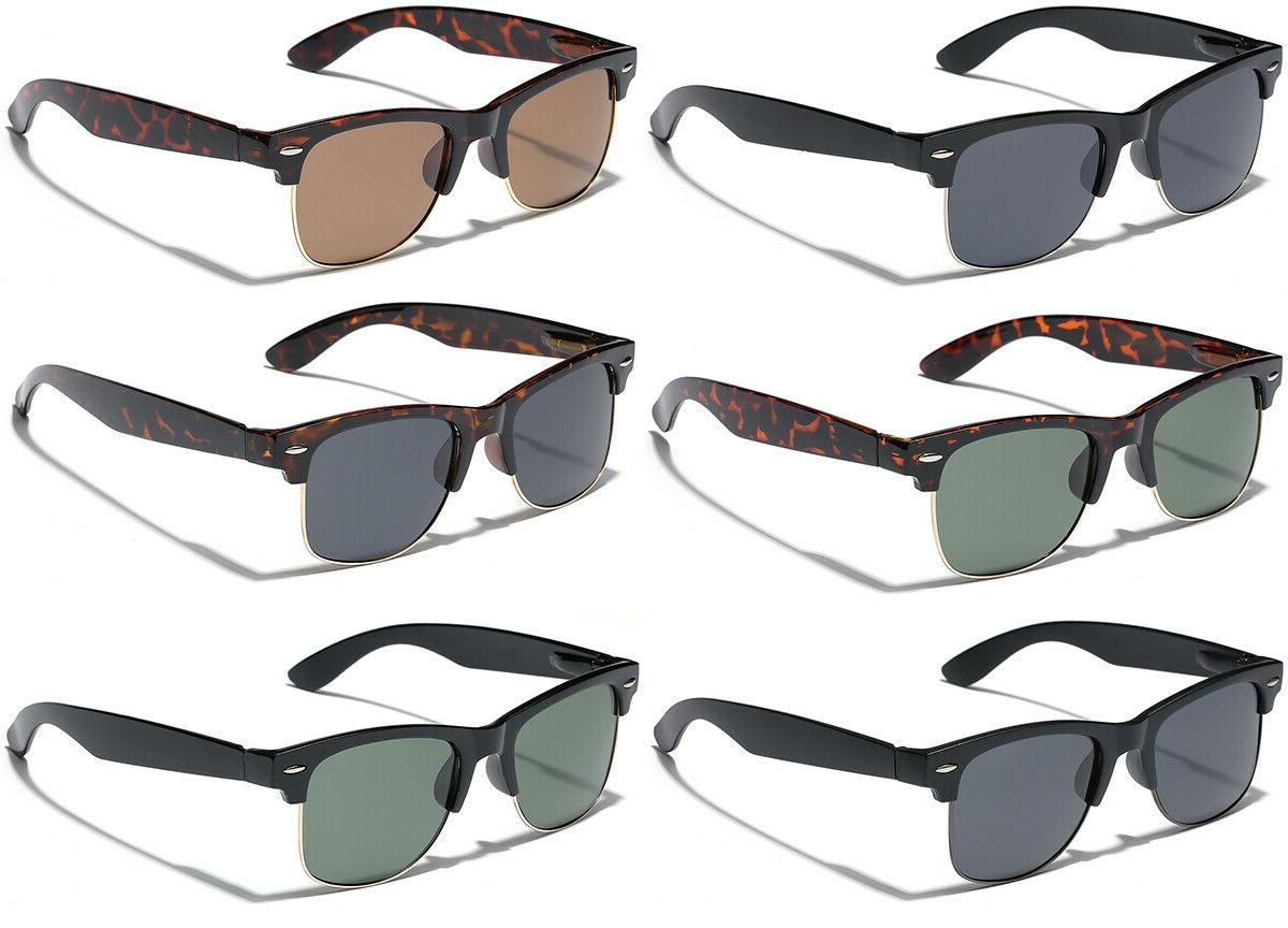 Large Polarized Retro Sunglasses Big