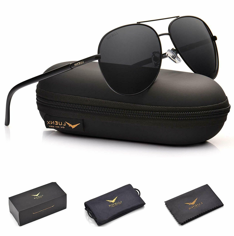 Aviator Sunglasses Men Women Non-Mirror Polarized UV 400 Cas