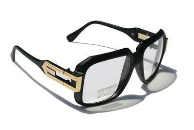 matte black clear lens cazal gazelle style
