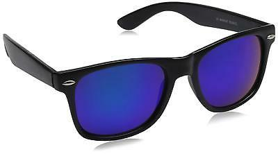 zeroUV - Matte Black Horn Rimmed Sunglasses, Blue, 54 mm, FA