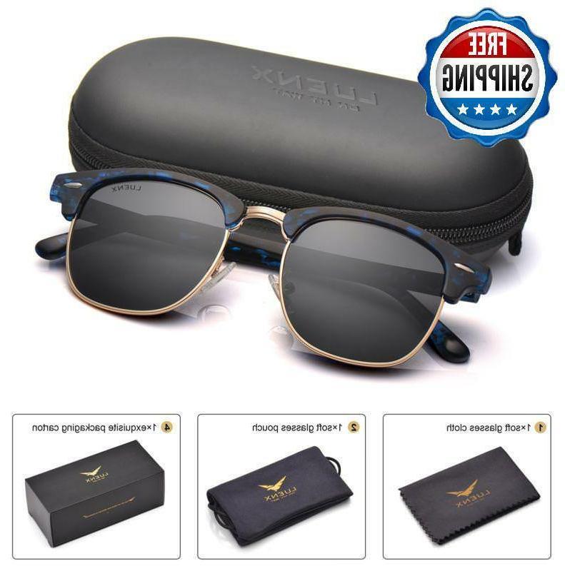 Men Clubmaster Sunglasses Polarized:Uv 400 Protection 51Mm W