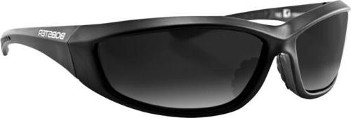 Bobster Men's Charger Black Sunglasses 100% UV Protection w/