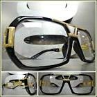 Men's CLASSIC RETRO HIP HOP RAPPER Style Clear Lens EYE GLAS