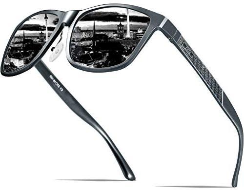 ATTCL Men's Hot Retro Metal Frame Driving Polarized Sunglass