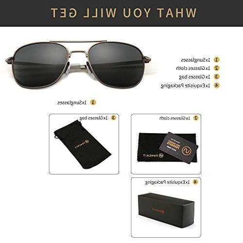 SUNGAIT Military Style Polarized Pilot - Temples A285QKHU