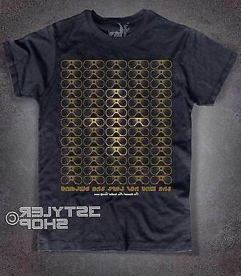 Men's T-Shirt Black Elvis the King as Left the Building Gold