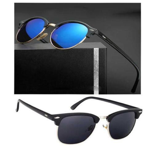 Men UV400 Polarized Sunglasses Women Retro Round Outdoor Dri
