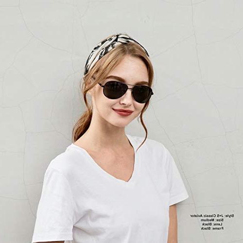 J+S Premium Military Style Classic Aviator Sunglasses, Polarized, 100%