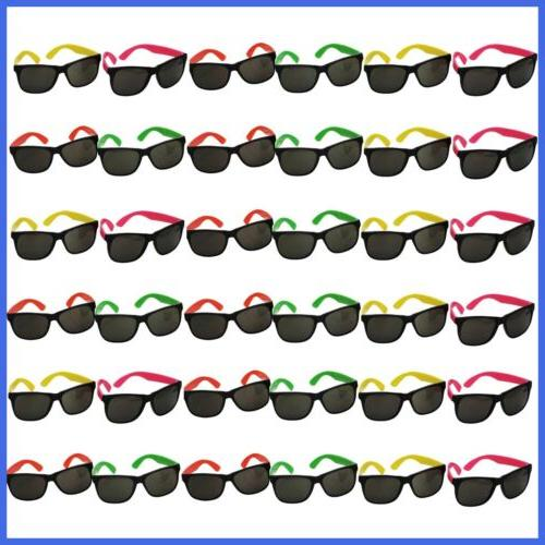 neon sunglasses 36 pack bulk glasses pool