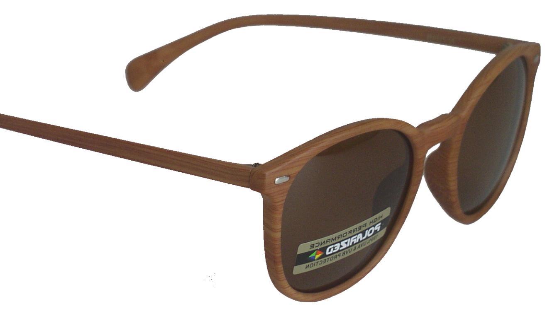 new fashion sunglasses wood design frame brown