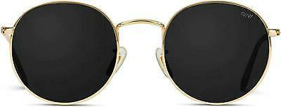 new gold frame black lens sunglasses reflective