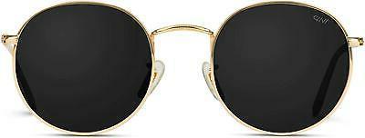 New WEARME PRO GOLD FRAME BLACK LENS SUNGLASSES Reflective L