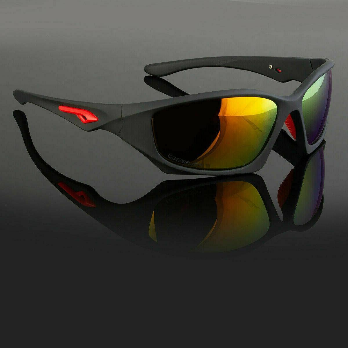 New Polarized Sports Eyewear Driving Sunglasses Wrap Around Glasses