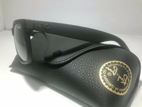 New Ray-Ban Justin RB4165 622/T3 Black/Grey Gradient