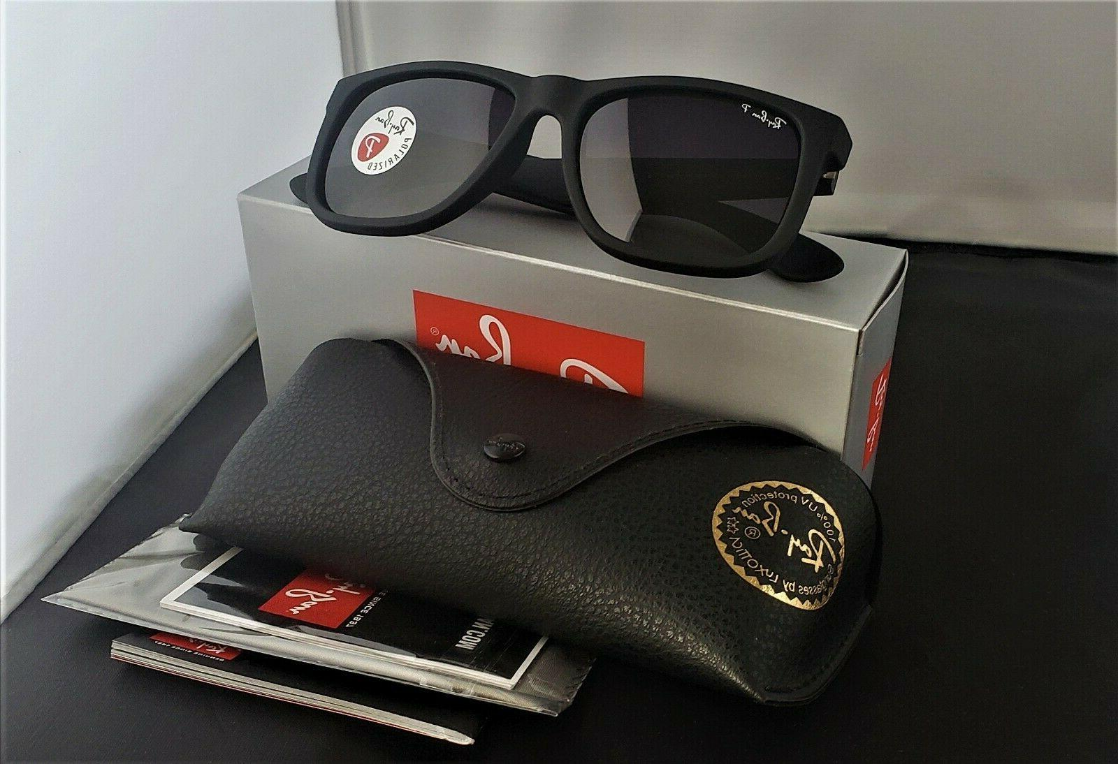 NEW!!! Ray-Ban Justin Wayfarer POLARiZED RB4165 622/T3 Black